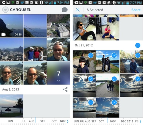 Dropbox Carousel app screenshots for Android