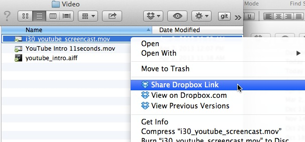 How big is my Dropbox video
