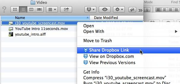 How big is my Dropbox video