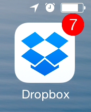 Dropbox mobile app icon - be sure to set the passcode lock!